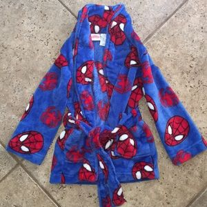 Spiderman Boys Plush Robe